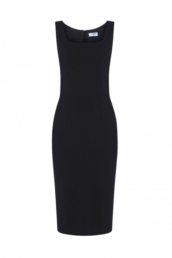 SQUARED NECK STRUCTURED DRESS