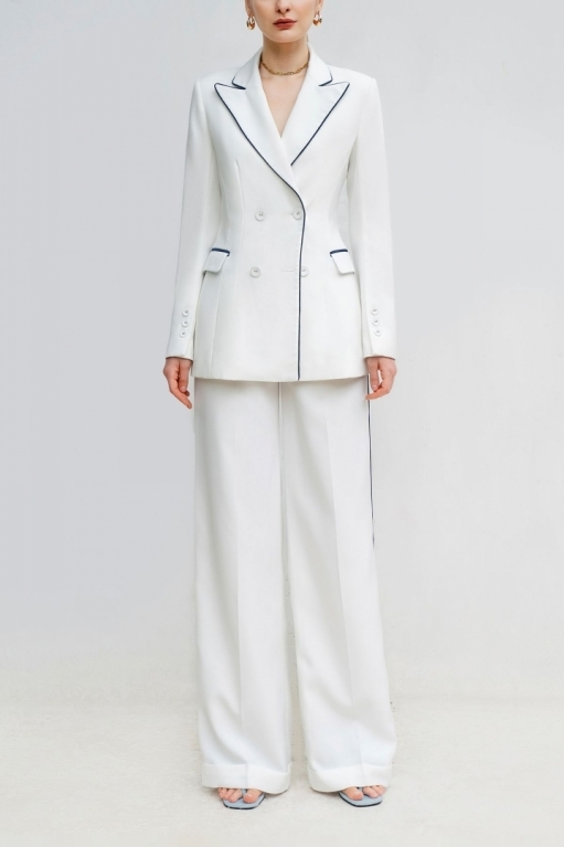 PASSION DOUBLE-BREASTED SUIT JACKET WITH CONTRAST LINE