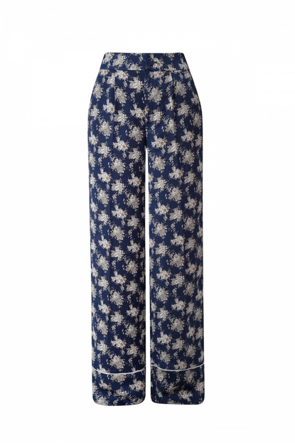 FLORAL PRINT SILK PANTS (Limited)