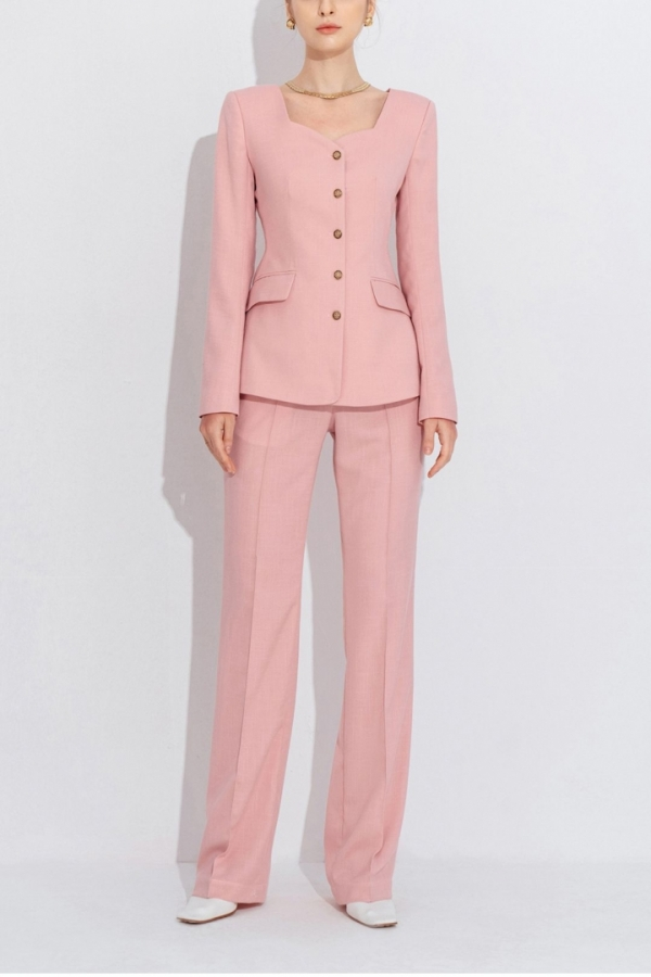 SWEET HEART NECK SUIT JACKET