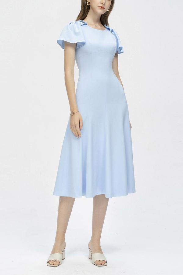 SIENA DRAPED FISHTAIL DRESS