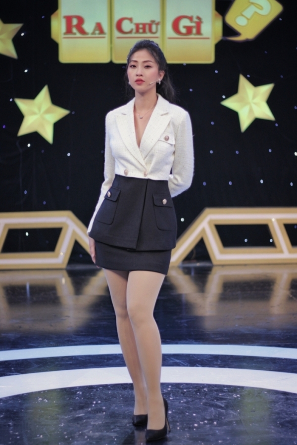 LIEU HA TRINH | TWO TONE DOUBLE BREASTED SUIT JACKET