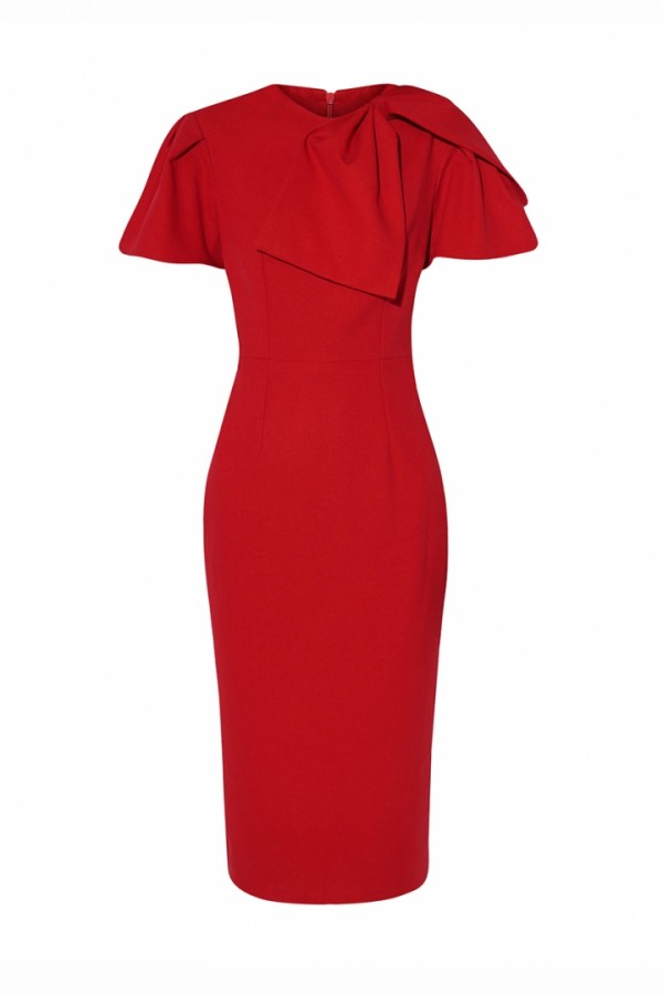 DIANE BOW TWILL DRESS