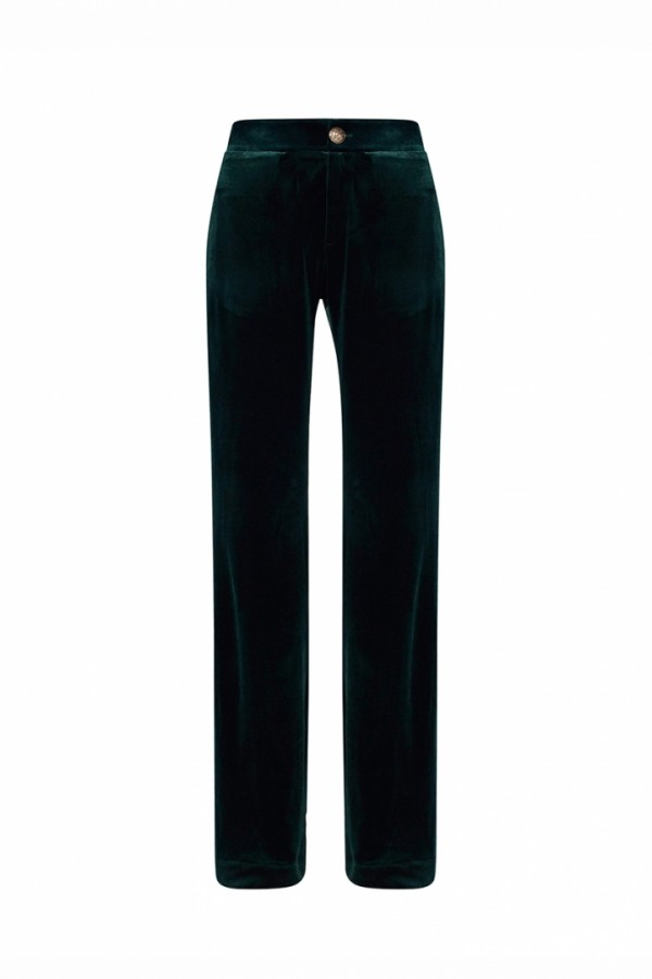 COTTON VELVET FLARED PANTS