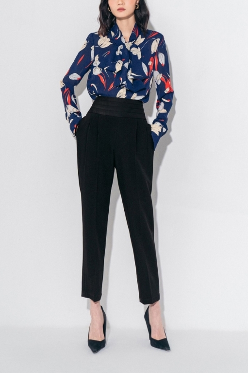 MAUCELINE PUSSY BOW SHIRT