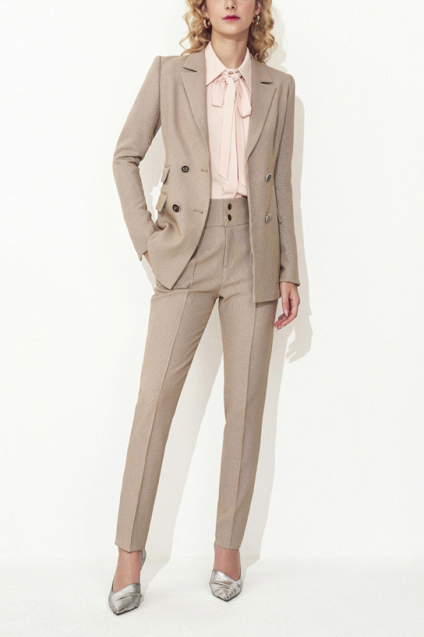 ANDREA HOUNDSTOOTH JACQUARD SUIT